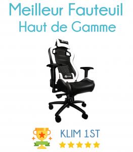 Fauteuil gamer le guide a lire avant d 39 acheter for Chaise klim